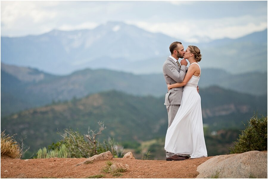 Leslie & Matt's Intimate Mountain Wedding