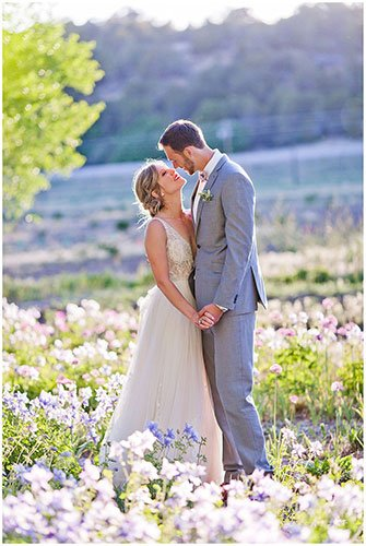 Flowers and mountain wedding